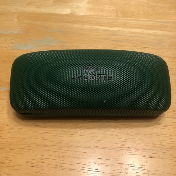 9dcb616c89b Lacoste Other - Lacoste Hard Green Eye Glasses Case